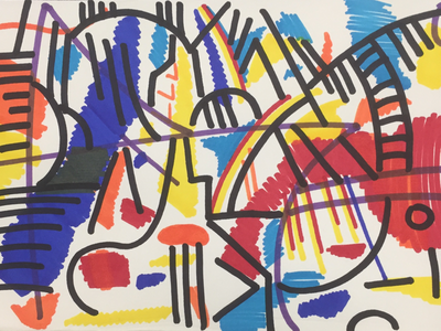 Expressionist exploration 2 modern art hand drawn drawing abstract expressionism expressionism abstract