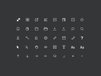 12px Icons WIP ui ux icon set