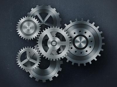 Grinding Gears gears photoshop illustration
