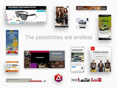 The possibilities are endless website gallery showcase adcade