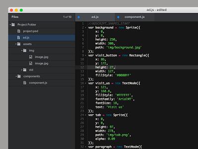 Epoch 2.0 Code Editor file browser folder structure code epoch editor adcade
