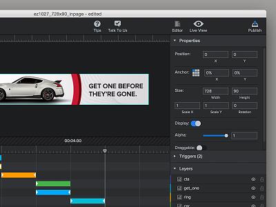 Epoch 2.0 Animation Editor animation ad builder epoch editor adcade