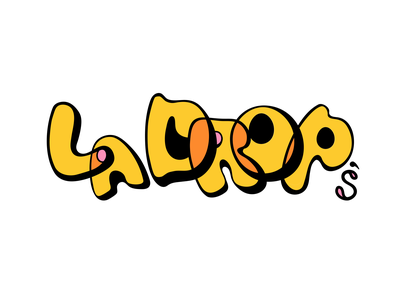 La Drop's Logo Design typography branding vector logo design photoshop illustrator illustration