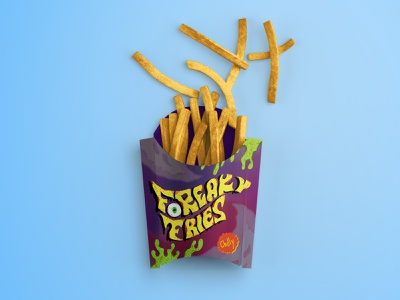 Freaky Fries 💥 Chilly and spooky taste🍟 logo french fries vector design branding food fast food photoshop illustrator illustration
