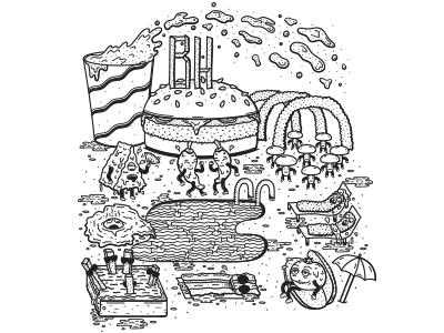 T-shirt Design for Burger House