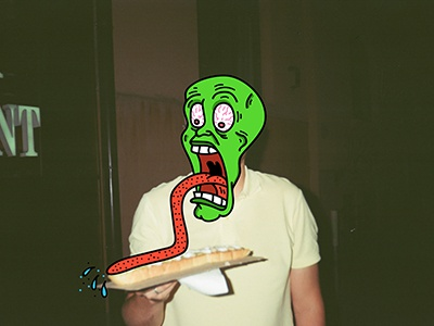 Somebody stop that guy the mask fast food cartoon network funny cheese sandwich illustrator photoshop cartoon mask