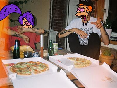 Future Pizza Gang fast food futurama collage photograph rouen food illustrator analog illustration pizza