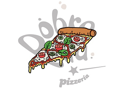 Pizza Illustration fast food photoshop branding design food illustrator illustration pizza