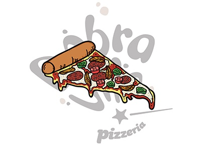 Pizza Illustration 2 fast food photoshop branding design food illustrator illustration pizza