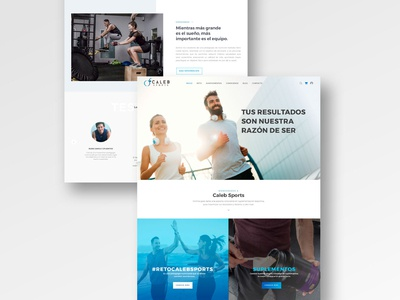Web Development and Branding for Caleb Sports