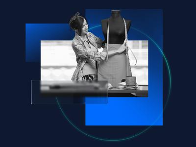 Composition 003 —Stylist grey redshift render branding blue photoshop minimal illustration c4d