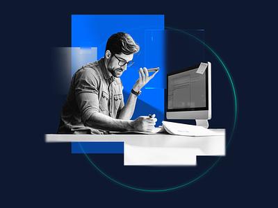 Composition 004 — Content Maker graphic render grey redshift minimal c4d illustration photoshop blue simple