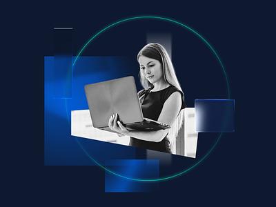 Composition 005 — Manager design graphic render minimal redshift photoshop illustration blue c4d simple