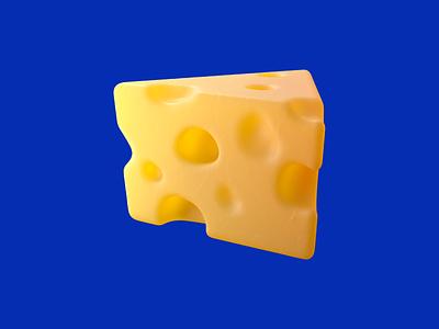 Cheese yellow blue cinema 4d corona render render cheese cartoon