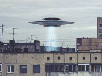 Contact saucer rays kidnapping extraterrestrials contact illustration ufo
