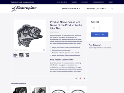 Product Page for Elektroplate