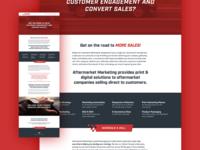 Landing Page for Aftermarket Marketing