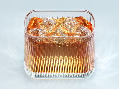 Whiskey iOS icon 3d whiskey whisky icon ios 7 ice caustic glass liquid alcohol realistic
