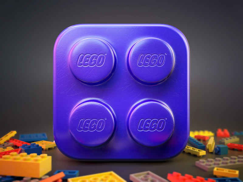Lego brick icon lego ios icon 3d cube constructor brick build