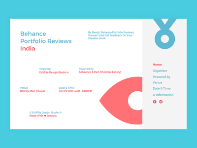 Behance Portfolio Reviews eclipse design studio event identity creative work behance portfolio reviews india