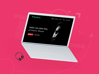 WebGenie Creative MultiPurpose Website Design Case Study -03 landing page interface exploration concept website ecommerce ux pixel design web kit ui