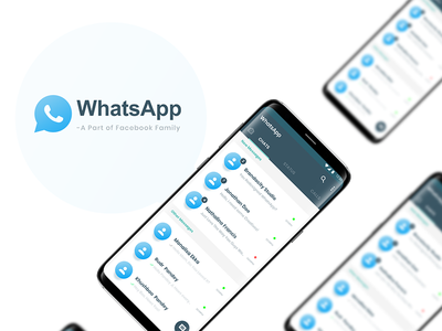 WhatsApp ReDesign Case Study : Freebie Adobe XD Free UI Kit -01