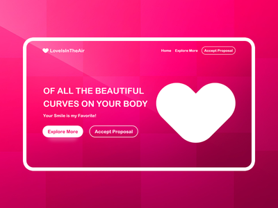 Valentines Day Love: Adobe XD Freebie