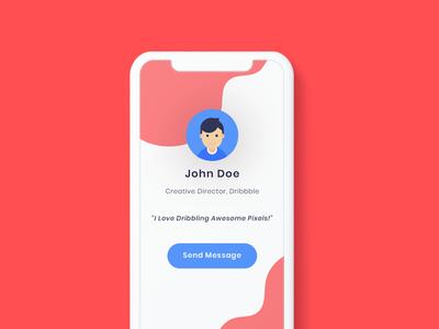 Dribbble Profile Screen Concept Exploration