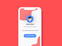 Dribbble Profile Screen Concept Exploration