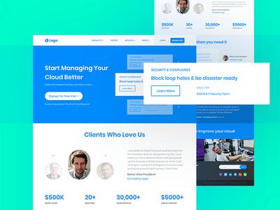 Software as a Service (SaaS) Provider Website Design