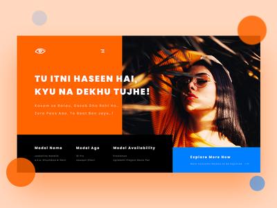 Fashion & Modeling Agency Header 🕶️ agency adobe xd website homepage modern minimalistic luxury ux ui landing page model fashion