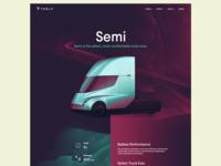Tesla Semi Landing page design
