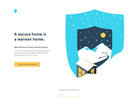 Security system landing page concept