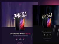 Omega landing pages