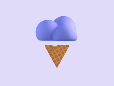 Ice cream experiments icecream illustration 3d after effects cinema-4d c4d