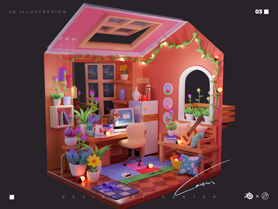 Dream house-1 blender3d illustration