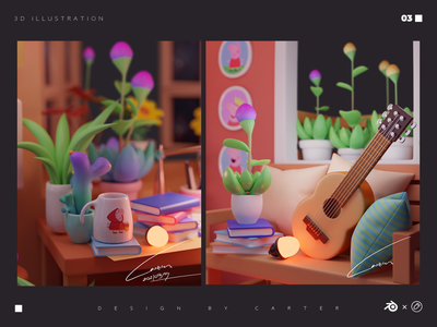 Dream house-3 blender3d illustration