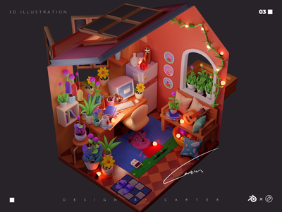 Dream house-04 blender3d