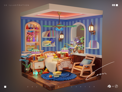 Dream house-05 blender3d