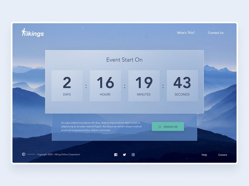 Daily UI - Countdown Timer countdown ios android web design mobile ux dailyui app ui uiux ui design