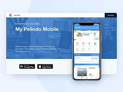 My Pelindo App - Mobile and Web pelabuhan indonesia pelindo mobile android ios landing page design web design ux dailyui app ui uiux ui design
