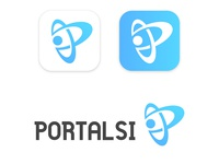 Mobile Icon Logo application of PortalSi