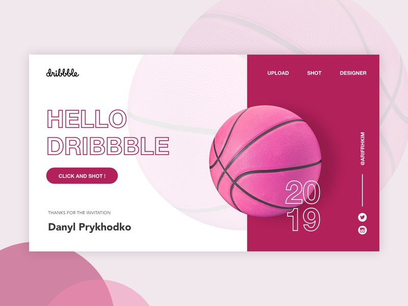 Dribbble Debut Shot invitations debut uiux web design ui design