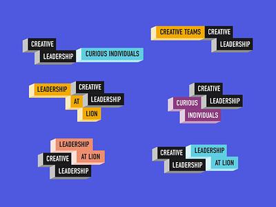 Leadership Conference leadership conference internal branding subbrand blocks logo branding