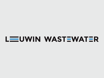 Wastewater plant logo logo branding