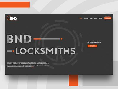 Locksmith website dark lock key bold type based web design animation typography uiux homepage locksmith website