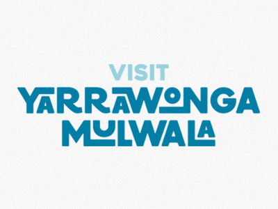 Tourism campaign branding typography logo branding