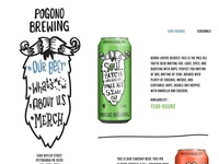 Pogono Brewing Web Mock