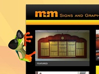 M&M Signs and Graphics Website