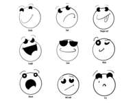 Hand draw smilies